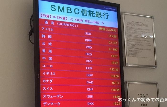 SMBC信託銀行 関西国際空港第2外貨両替コーナー