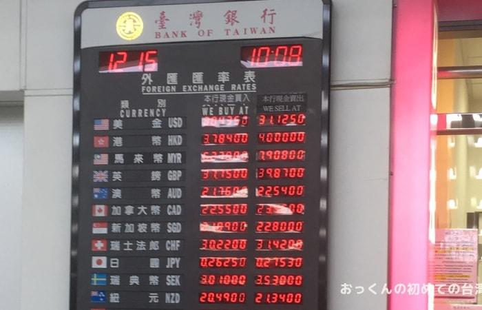 台湾銀行 桃園国際空港両替所
