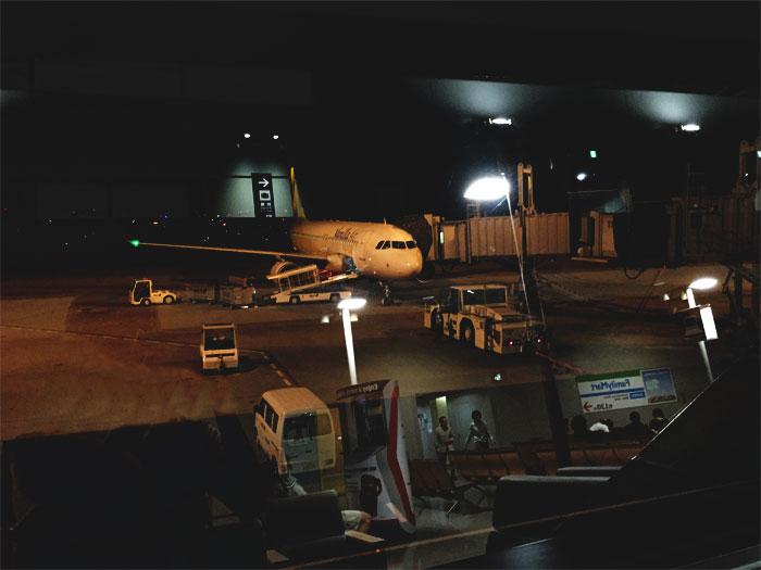 LCCのバニラエアにこれから搭乗します