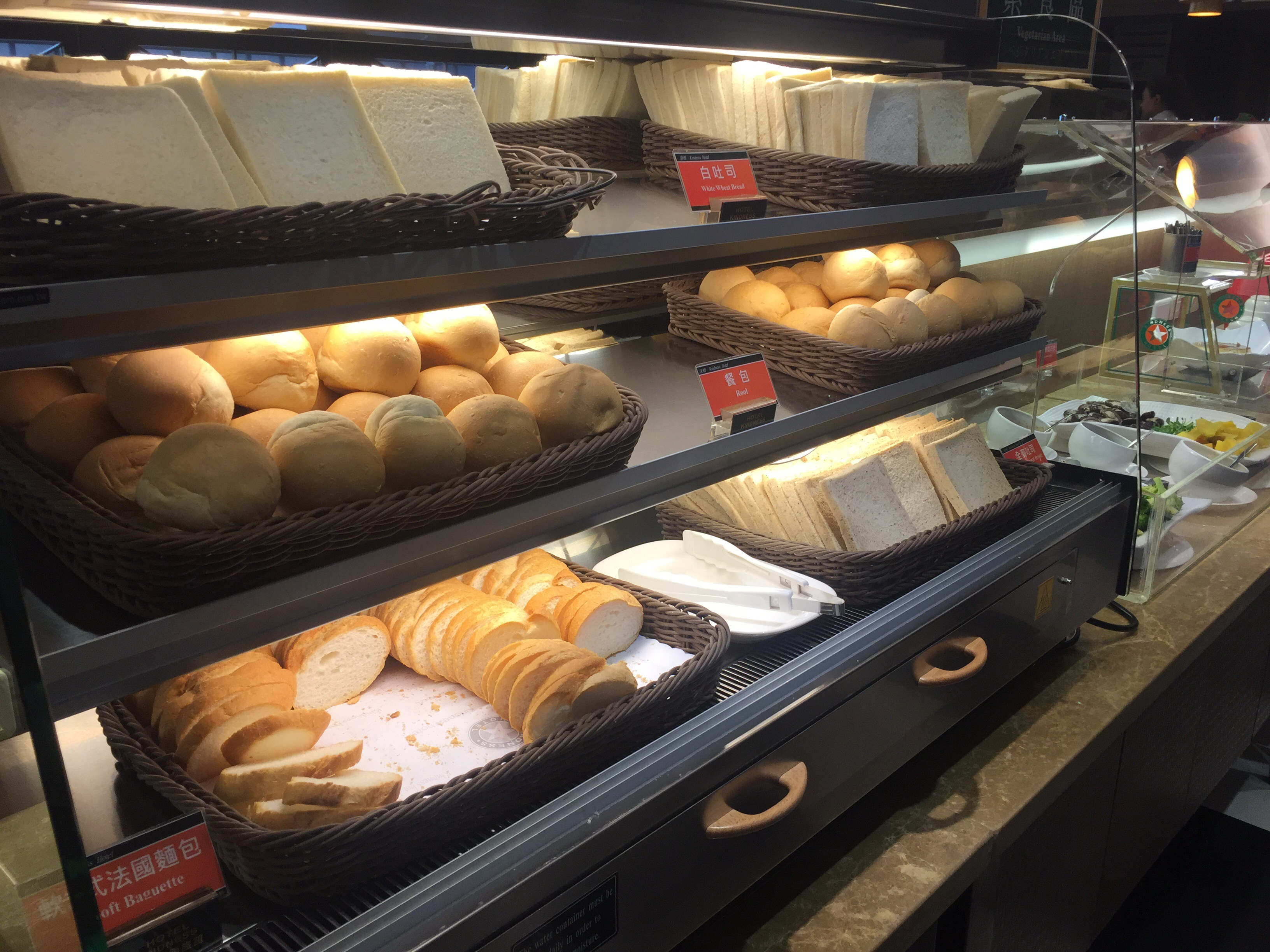 パンも沢山ありました!トースターがあるので温めもできます
