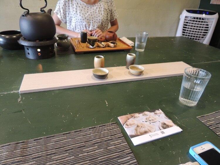 料理を食べたあとは、台湾茶を飲みました。