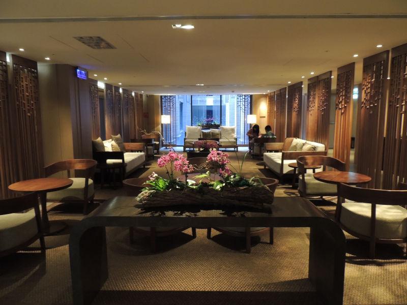 グランドビューリゾート北投の個室温泉があるB2階。内装がオリエンタルな雰囲気で素敵でした。