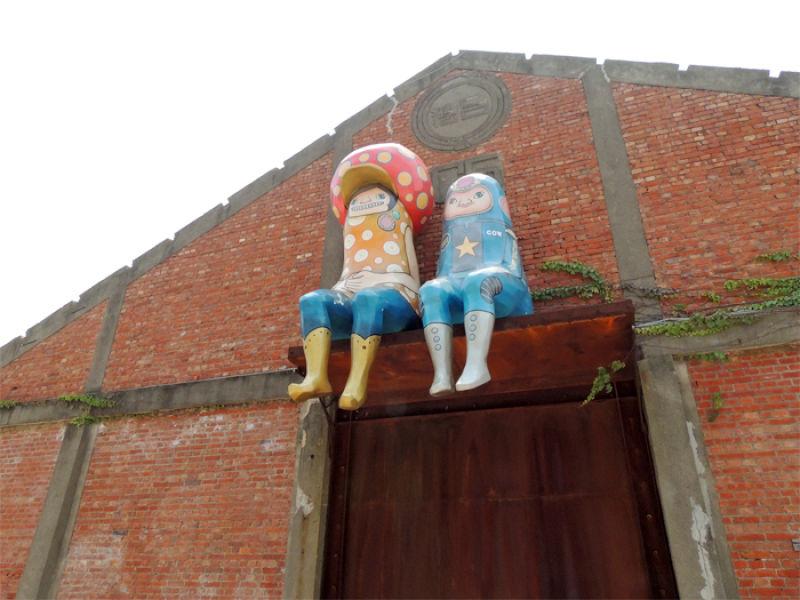 駁二藝術特區は広大な敷地内にストリートアートが点在しています。