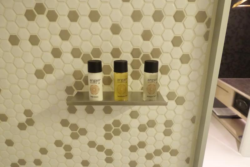 バスルームにはシャンプー、コンディショナー、ボディウォッシュが置いてありました。